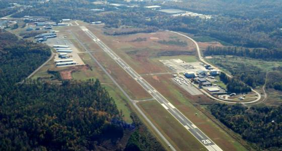 Aerial View of Rowan County Airport and Runways