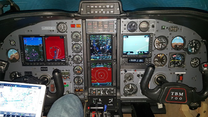 Socata TBM 700 – Glass Panel Avionics Installation