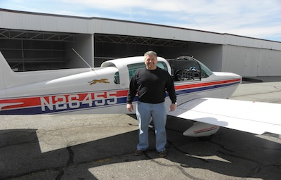 Customer with plane