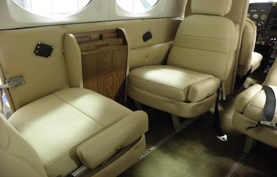 Interior seating on plane
