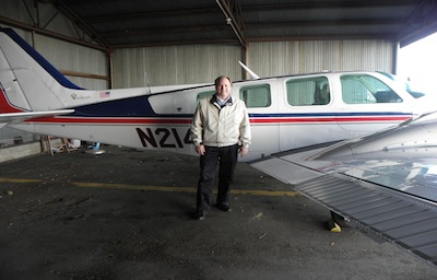 Happy customer with plane